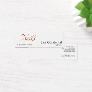 Nails Mini Business Card