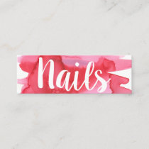 Nails Nail Technician Watercolor  Business Card