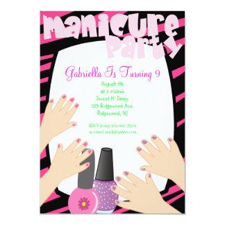 Nails, Nails, Nails Manicure Spa Birthday Party Card