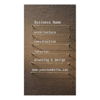 Nails Rope Shapes Faux Linen Retro Cool Business Card