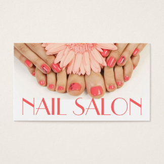 Nails Salon Manicure Pedicure Beauty Spa Business Card