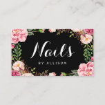 """Nails Salon Nail Technician Romantic Floral Wrap Business Card<br><div class=""""desc"""">Make a great impression with this stylish &quot;Nails Salon Nail Technician Romantic Floral Wrap&quot; Business Card template. Create yours today! (1) For further customization,  please click the &quot;customize further&quot; link and use our design tool to modify this template.  (2) If you need help or matching items,  please contact me.</div>"""