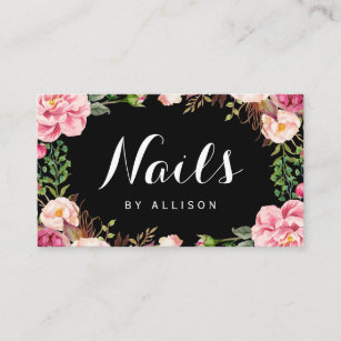 Nails Salon Nail Technician Fl Wrap Business Card