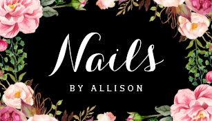 Nail salon business cards zazzle nails salon nail technician romantic floral wrap business card colourmoves
