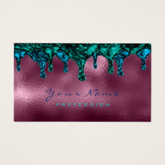 Nails Wax Epilation Depilation Blue Teal Burgundy Business Card