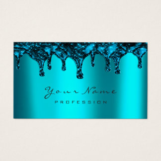 Nails Wax Epilation Depilation Navy Ocean Blue Business Card