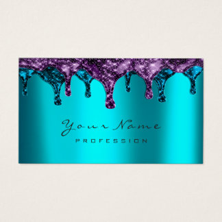 Nails Wax Epilation Depilation Navy Purple BluTeal Business Card