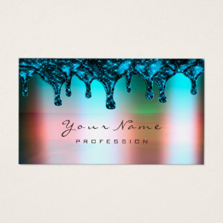 Nails Wax Epilation Depilation Ombre Ocean Blue Business Card