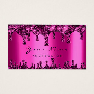 Nails Wax Epilation Depilation Pink Fuchsia Neon Business Card