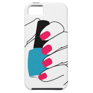 Nails with a nail polish in hand iPhone SE/5/5s case