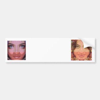 NAINA : DOE Eye n Perfect LIPS Girl Graphics Car Bumper Sticker