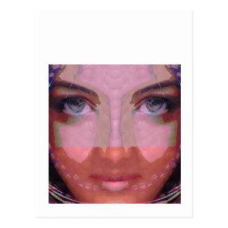 NAINA : DOE Eye n Perfect LIPS Girl Graphics Postcard