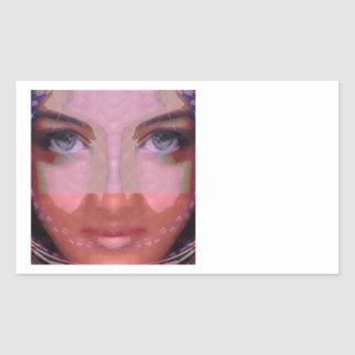 NAINA : DOE Eye n Perfect LIPS Girl Graphics Rectangular Sticker