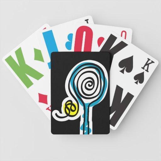Naipe con tema del tenis cartas de juego
