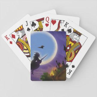 NAIPE de la bruja y del halcón Baraja De Póquer