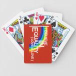 Naipe de la igualdad baraja de cartas