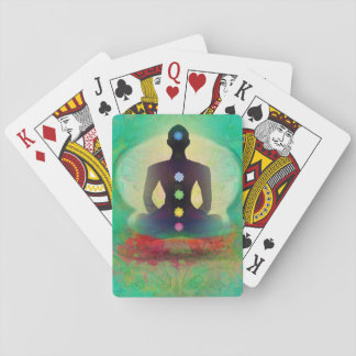 Naipe de la obra clásica de la yoga de la baraja de póquer