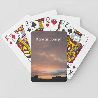 Naipe de la puesta del sol de Kansas Barajas De Cartas