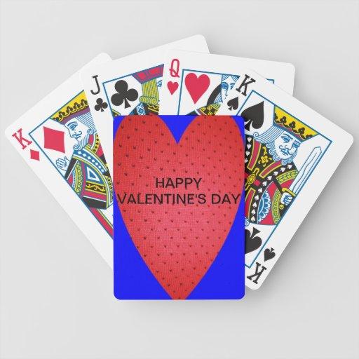 Naipe del EL DÍA DE SAN VALENTÍN Baraja Cartas De Poker