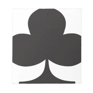 Naipe del juego del club del póker blocs de papel
