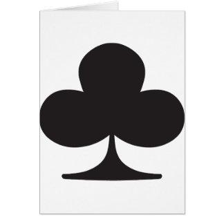 Naipe del juego del club del póker felicitaciones