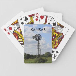 Naipe del molino de viento de Kansas Barajas De Cartas