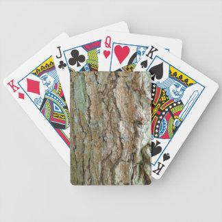 Naipe del póker de la piel del árbol baraja