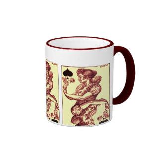 Naipe del vintage taza de café