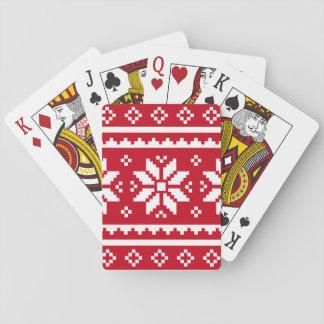 Naipe divertido del navidad con el modelo nórdico baraja de cartas
