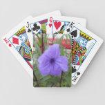 Naipe hermoso del póker de la hoja de la flor barajas de cartas