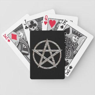 Naipe martillado Pentagram del cromo Cartas De Juego