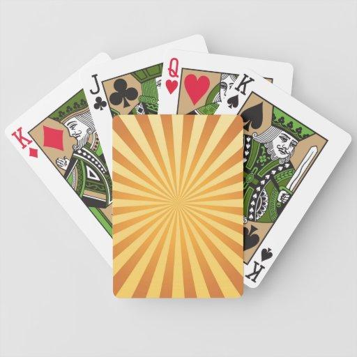 naipe, retro, luz del sol barajas de cartas