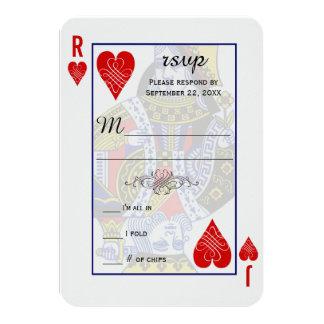 """Naipe RSVP de rey Queen Invitación 3.5"""" X 5"""""""