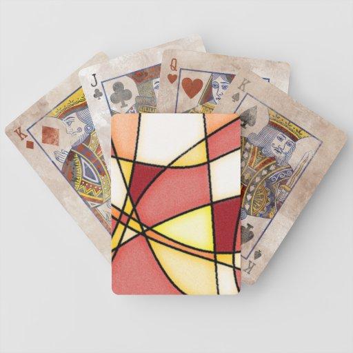 Naipes abstractos baraja de cartas