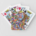 Naipes abstractos coloridos baraja