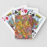 Naipes abstractos coloridos barajas de cartas