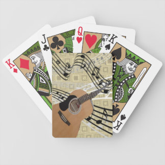 Naipes abstractos de la guitarra cartas de juego