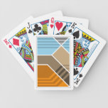 Naipes abstractos de la zona de la subducción baraja cartas de poker