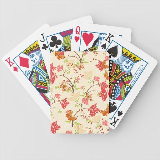 Naipes abstractos de las mariposas baraja de cartas