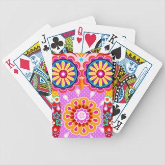 Naipes abstractos lindos del búho - búho del arte barajas de cartas