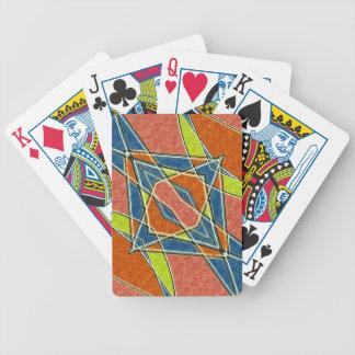 Naipes abstractos multicolores de Bicycle® Baraja Cartas De Poker