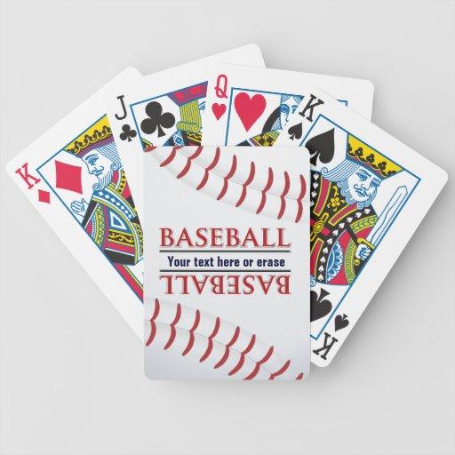 Naipes adaptables del béisbol cartas de juego