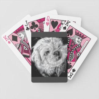 Naipes adorables del perrito baraja cartas de poker