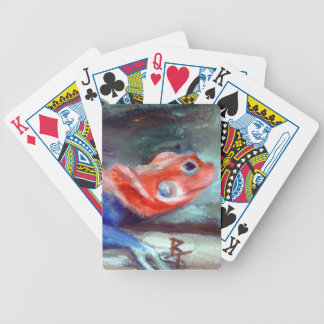 Naipes africanos del lagarto del arco iris barajas de cartas