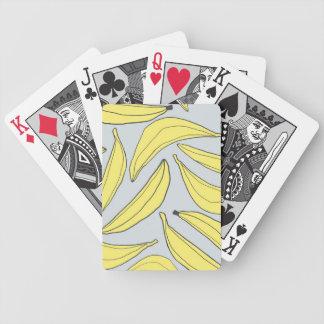Naipes amarillos de los plátanos cartas de juego