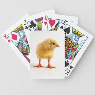 Naipes amarillos del pollo del polluelo del bebé baraja