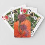 Naipes anaranjados de la amapola baraja de cartas