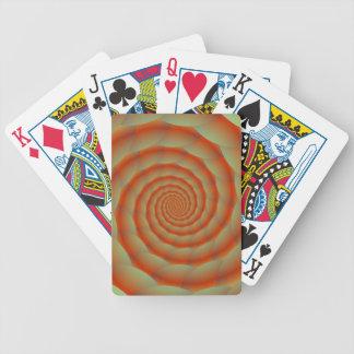Naipes anaranjados del espiral de la piel de serpi baraja de cartas