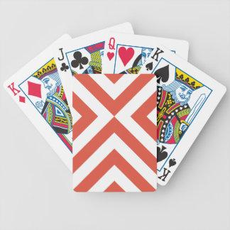 Naipes anaranjados y blancos vibrantes de los baraja de cartas