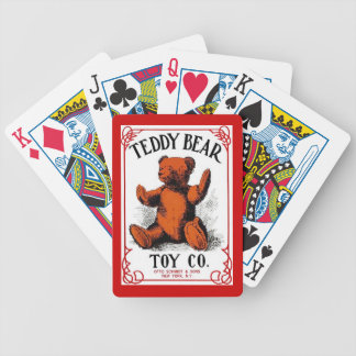 Naipes antiguos del juguete del oso de peluche de  barajas de cartas
